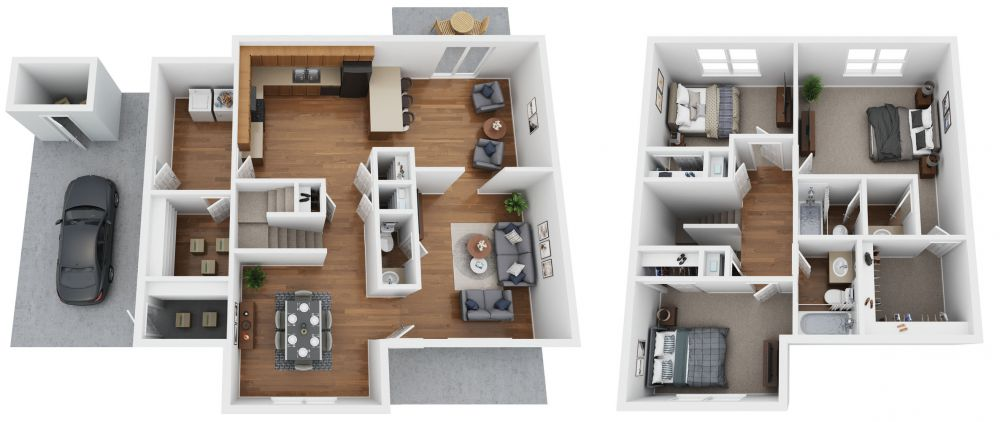 A 3 bedroom townhome